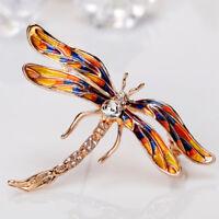 Cute Rhinestone Dragonfly Insect Brooch Pin Women Jewelry Bridal Fashion Gift