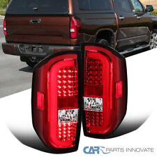 For Toyota 14-20 Tundra Red Clear LED Sequential Tail Lights Brake Lamps Pair