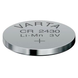 CR2430 Lithium-Batterie 3,0 Volt 280mAh ø24,5x3,0mm 3V Knopfzelle VARTA