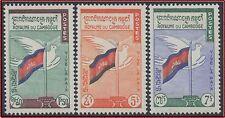 CAMBODGE N°98/100** Vive la paix 1961, CAMBODIA Sc#88-90 MNH