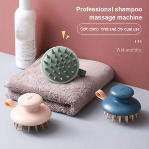 Silicone Shampoo Massage Brush Handheld Head Body Scalp Hair Comb Handhelds