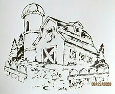 Country Barn Old Time Farm Barn Stencil/Template Reusable 10 mil Mylar