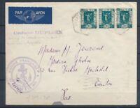 1936 Env. avec 3 timbres Obl. CROISEUR-DUPLEIX ,TB X1458