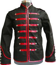 Men's Handmade Black Parade Military Marching Band Drummer Jacket Goth Punk Emo