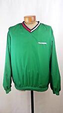 Vintage TOMMY HILFIGER Green Nylon Pullover Flag Spelled Out Hip Hop Men's LG