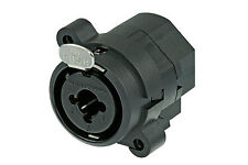 Neutrik NCJ9FI-S Combo 3-Pin XLRF-1/4 Inch w- Switching (Normalling) Solder Cups