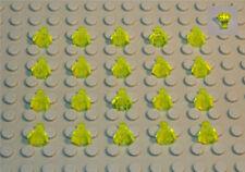 LEGO BRIQUES BRICK DECORATION : 20 DIAMANTS - ROCHERS JAUNE FLUO NEUFS