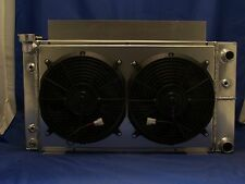 v-8 v 8 s10 aluminum radiator ls1 ls2 ls3 conversion 2 row made in usa with fans