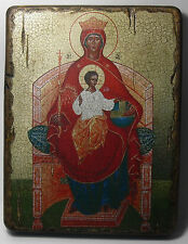 Handmade copy ancient icon Orthodox Church Icon Mother of God Reigning 38S