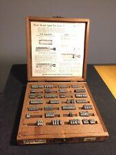 Kingsley Hot Foil Stamping Machine Type, Joyce Woods Type 7
