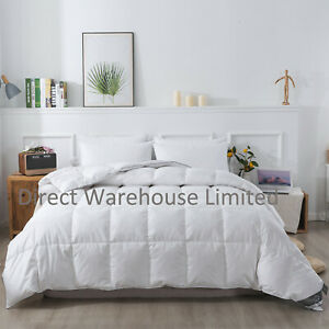 Goose Feather & Down Duvet 85% Feather & 15% Down Filled Quilt All Togs & Sizes