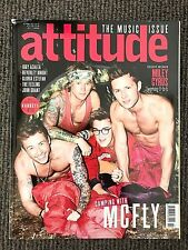 Rare Vintage UK Attitude Magazine Mcfly Miley Cyrus October 2013 Gay Interest