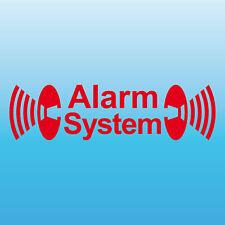 Alarm System rot gespiegelt Aufkleber Tattoo Auto Balkon Shop Fenster Scheibe