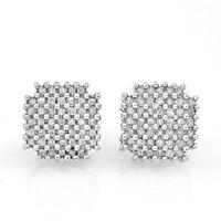.50ctw Princess Cut Diamond Earrings 14k White Gold