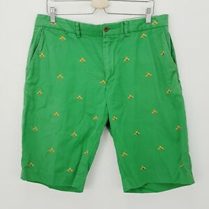 RALPH LAUREN Polo Mens Size 36 Green Embroidered Bees  Shorts