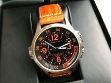 Hamilton Khaki Air Race GMT Automatic Watch H77665973. Swiss-made. Orange Strap