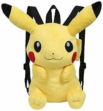 Pokemon 3D Pikachu Plush Backpack Schoolbag Adjustable Nintendo Rucksack