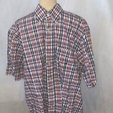 Nautica blue red flannel men's clothing shirt xl