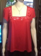 Lovely Pink Top With Neckline Detail From Marks And Spencer Size 18