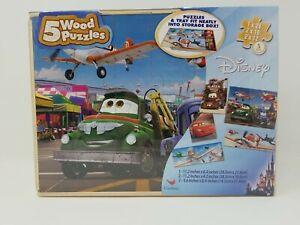 Cardinal 5 Wood Puzzle Set Disney Cars & Planes