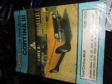 ford cortina mk3 1300, 1600,2000, AUTODATA WORKSHOP MANUAL N.O.S.