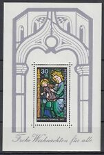 Germany Berlin 1977 ** Bl.6 Weihnachten Christmas Glasfenster Glass window