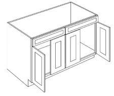 All Wood RTA Country Oak Sink Base Cabinet SB48 Ready To Assemble Kitchen