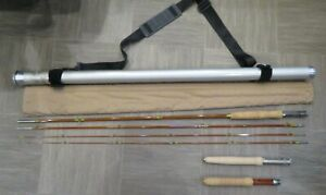 GS-9050 9' 3/2 5wt Wright & McGill Granger Special Bamboo Fly Rod + Extras