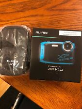 Fujifilm FinePix XP140 Waterproof Digital Camera w/case- Sky Blue - Brand New