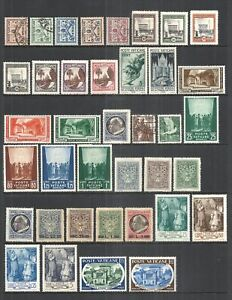 VATICAN CITY       VARIOUS MINT & USED ISSUES        1929 to 1957      CV $16.55
