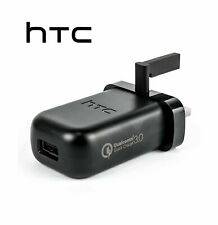 GENUINE HTC TC P5000 UK 3PIN BLACK FAST QC 3.0 CHARGER POWER ADAPTER