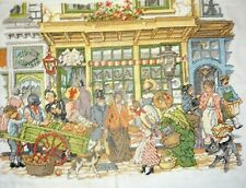 Counted Cross Stitch Unframed Picture Victorian Street Market
