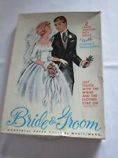 Magic Wand Paper Dolls Bride and Groom 1960's