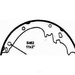 Wagner PAB462R ThermoQuiet Brake Shoes