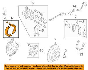 26694AG000 Subaru Shoe repair kit rear 26694AG000