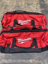"New X2 Milwaukee 24 Inch Large Heavy Duty Tool Bag 24"" x 12"" x 12"" Two Bag"