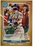 Carlos Correa 2020 Topps Gypsy Queen 5x7 Gold #159 /10 Astros