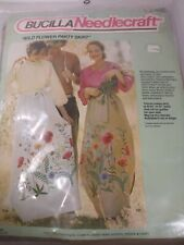 "BUCILLA NEEDLECRAFT ""WILD FLOWER PARTY SKIRT""  VINTAGE 1976 KIT NO. 2485"
