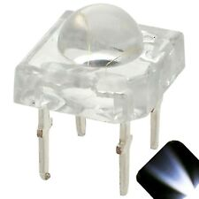 100 x LED 5mm Dome Superflux Cool Clear White Piranha LEDs Car Lights Super Flux