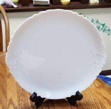 "Haviland RANSON WHITE 11 5/8"" Round Platter Chop Plate Great Condition!"