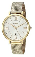 Fossil Jacqueline 36mm Silver Dial Gold Steel Mesh Women's Watch ES4353 SD