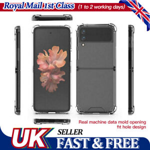 UK For Samsung Galaxy Z Flip 3  Case Acrylic Clear Shockproof Ultra Thin Cover