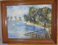 Impressionist Landscape Oil Painting - Saxon - Mid Century 1964 - VERY NICE ART