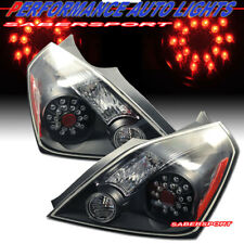 Set of Pair Black Housing LED Taillights for 2008-2013 Nissan Altima 2dr Coupe