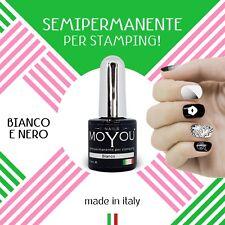 Moyou Smalto semipermanente  Per Stamping Nero 10 ml