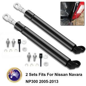 2 Sets Rear Slowdown Damper Gas Strut Tailgate For Nissan Navara NP300 2005-2013
