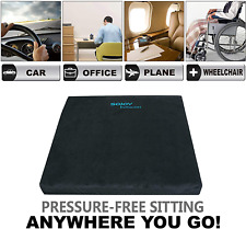 Seat Cushion with Memory Foam Plush for Car Office Truck Home Black By Sojoy New