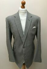 Vintage bespoke houndstooth dogtooth suit size 44