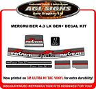 Mercury Alpha one  4.3  GEN+  7 Piece Reproduction Decal Kit  Mercruiser  Gen +