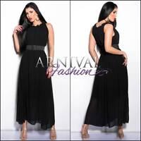 NEW belt + MAXI DRESS 6 8 10 12 14 LONG SUMMER DRESSES XS S M L XL sexy sundress